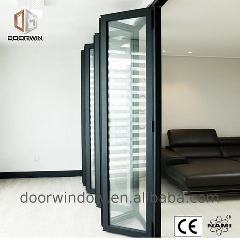 Factory price wholesale white aluminium bifold doors where to buy what size door do i need on China WDMA