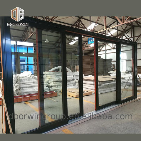 Factory price wholesale wood vs vinyl sliding patio doors clad on China WDMA