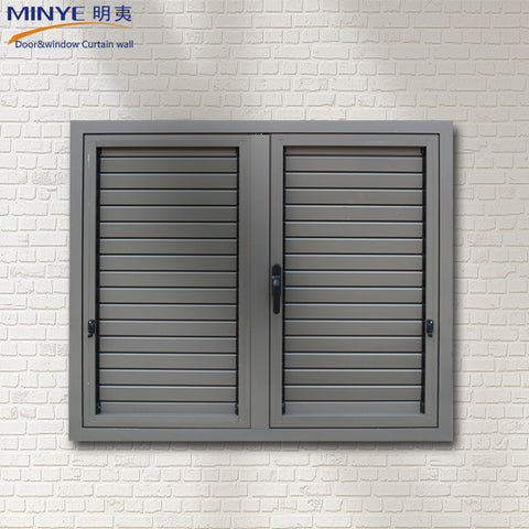 Factory product double tempered glass aluminum profile shutter/louver window crank devices hardware on China WDMA