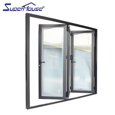 Fancy bi fold patio doors aluminum folding patio doors exterior on China WDMA
