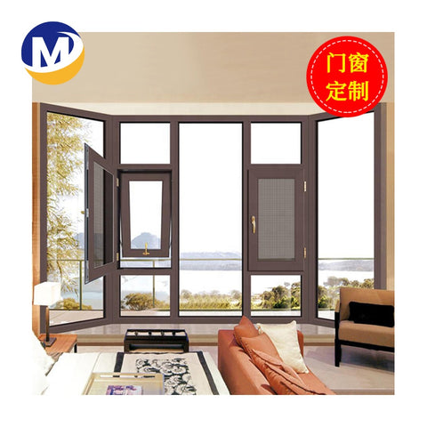 Fashion Aluminum alloy Jalousie Frame Indian double glass casement Window Design Latest Window Design on China WDMA