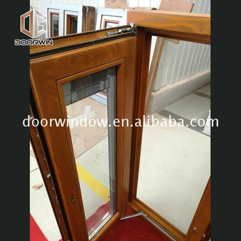 Fashion curved double glazed windows casement vs single hung window with fixed glass on China WDMA