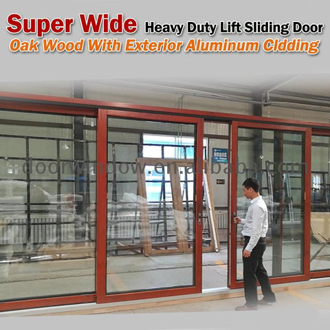 Fashion some different types of sliding doors solid wood exterior wall partition on China WDMA