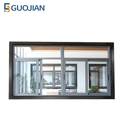 Fashionable aluminum 4 panel sliding window with frosted glass on China WDMA