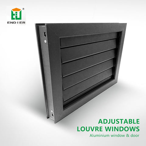 Fixed and operable louvre awning vertical shutter window bathroom aluminium adjustable louvre windows on China WDMA