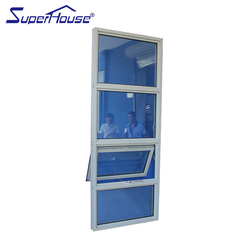Florida Approval FL23013 hurricane proof impact resistance aluminium awning windows on sell on China WDMA