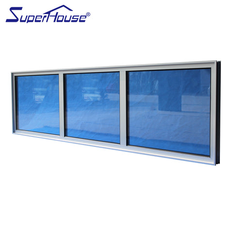Florida Building Approved Miami Dade NOA Hurricane Resistance fire rated fixed glass bathroom windows sale on China WDMA
