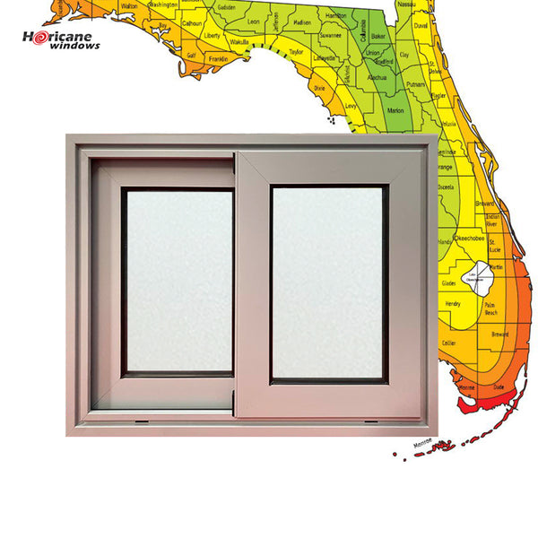 Florida Miami-Dade Hurricane approved aluminium black frame double commercial sliding glass hurricane proof windows and doors on China WDMA