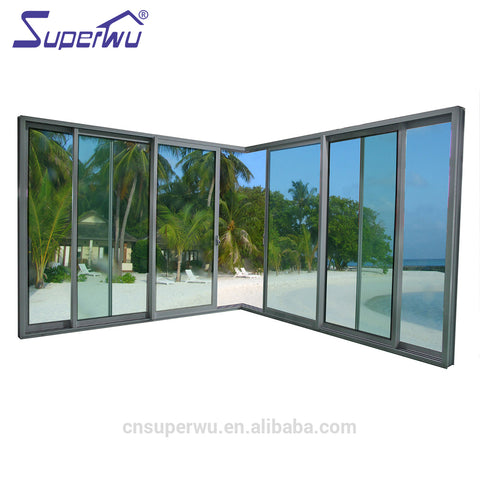 Florida building code double glazed patio sliding glass door with insect screen on China WDMA