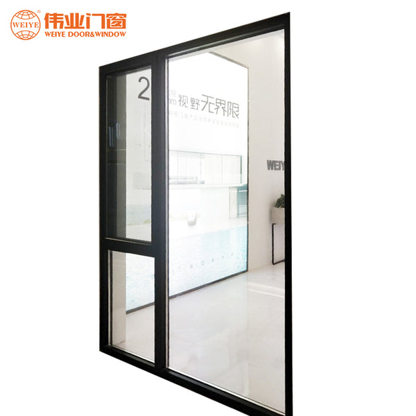 Fluorocarbon finished aluminium narrow frame casement flyscreen window on China WDMA
