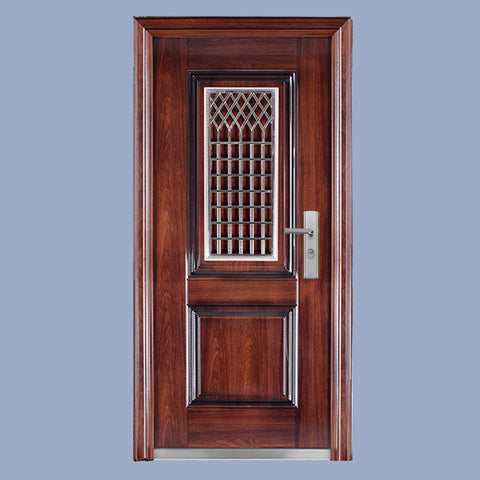 For home high security exterior front main safety door in door with opening 304 stainless steel small window designs on China WDMA