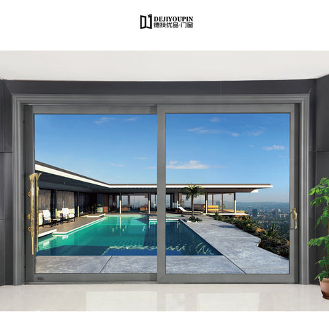 Foshan Built in design D136A 3 meter hurricane impact resistant safety aluminum used sliding glass door for sale on China WDMA