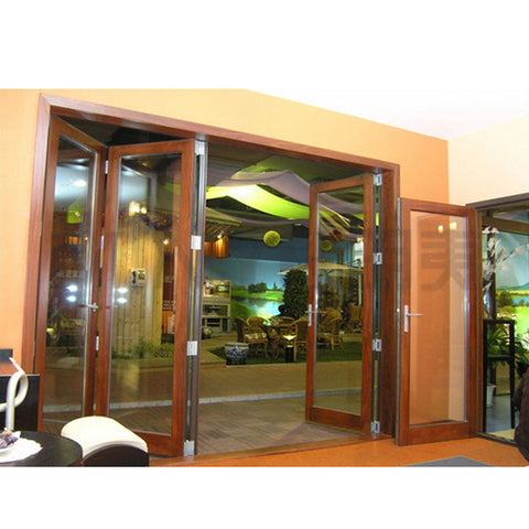 Frameless Wooden Folding Glass Up Doors Exterior on China WDMA