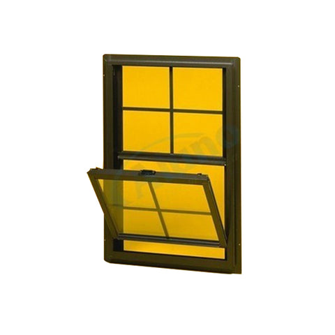 French Aluminum Single Hung Sash Window Or Top Hung Window With High Quality for Sale on China WDMA