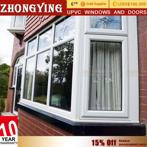 French Exterior Upvc Eco-friendly Plastic Window Kinbon Frame Soundproof House White Hinx Pretty Shutter Hung And Pvc Door on China WDMA