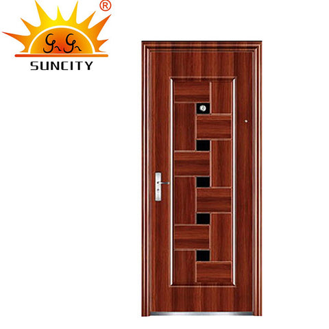 French Single Leaf Design Swing Open Honeycomb Infilling Anti-theft Steel Door on China WDMA