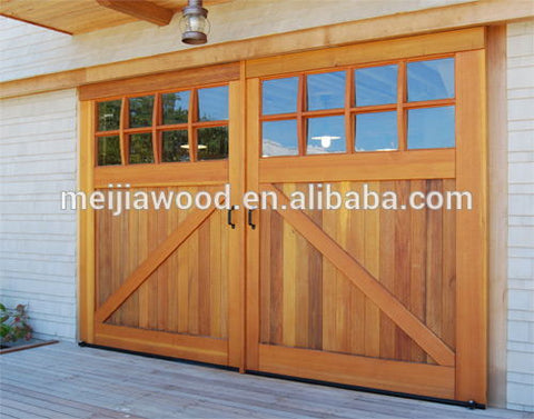 French Style 8-Lite Flat Top And Bottom Z Tremendous Sliding Barn Door With Panes on China WDMA