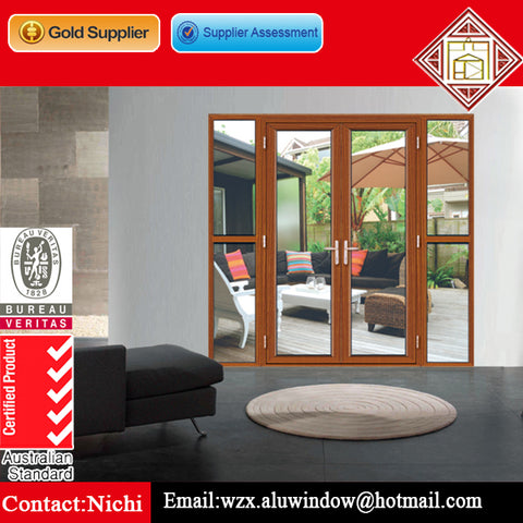 French open 48 inch double exterior doors with glass on China WDMA