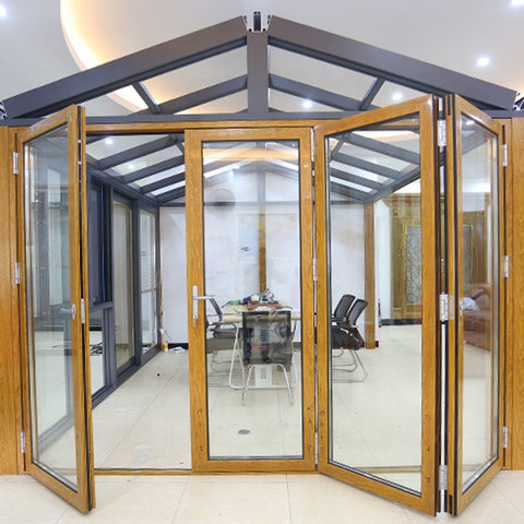 French style aluminum bi folding window and door aluminium bi-fold foldable glass doors on China WDMA