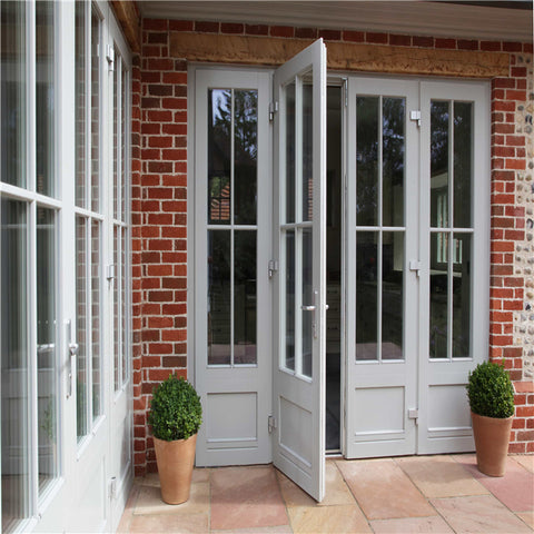 French style upvc vinyl casement doors factory price high quality soundproof on China WDMA