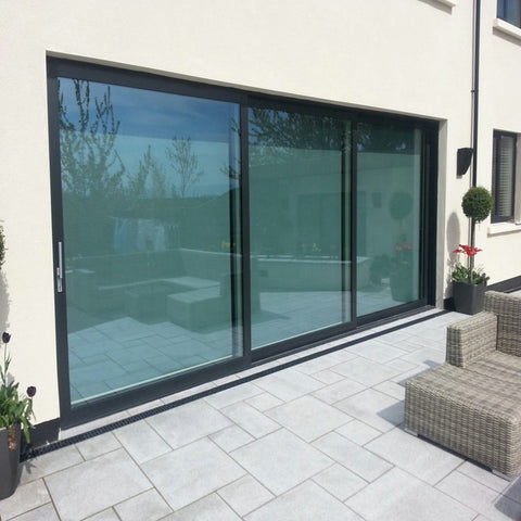 Front door designs 3 panel triple sliding patio door price on China WDMA