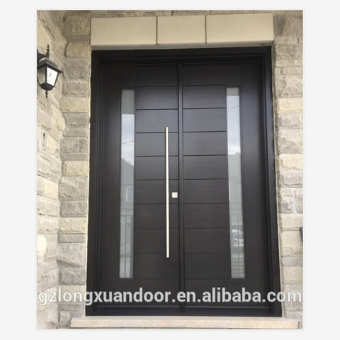 Frosted glass double wooden door indian door designs double doors on China WDMA