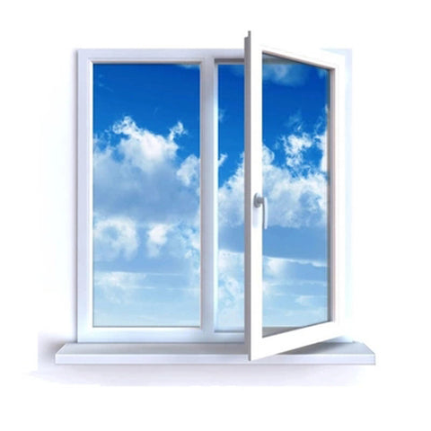 GUOJIAN white french design PVC casement windows on China WDMA