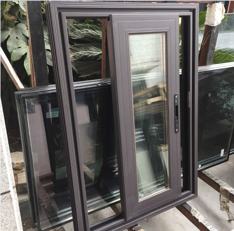 GaoMing slim sliding windows/aluminum sliding window frame/double glazed sliding window price philippines on China WDMA