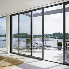 Gaoming Aluminium Double Glass Sliding Folding Door for Entrance on China WDMA