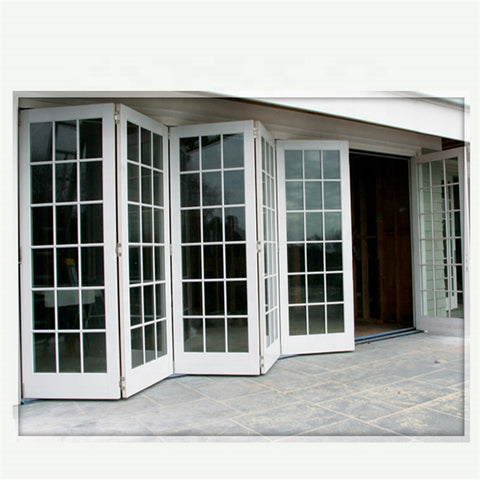 Gaoming Double glazing bi fold door Accordion aluminum glass patio exterior bifold doors on China WDMA