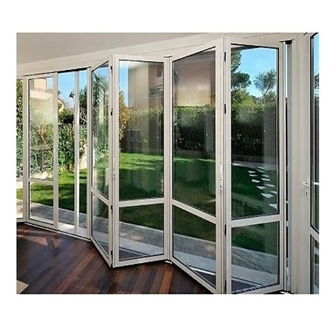 Gaoming bi fold folding aluminum polycarbonate transparent commercial accordion screen shutter door on China WDMA