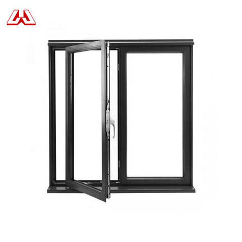 German Standard Shutter Aluminum Louver Double Glass casement Window With 4 Panels Aluminum Windows on China WDMA
