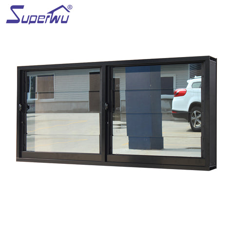 Glass louver anti-theft bar design aluminum security doors and Windows on China WDMA