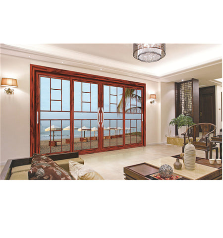 Glass soundproof interior french sliding doors aluminium aluminum glass sliding door on China WDMA