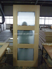 Glass wooden double barn doors designs for living kitchen room on China WDMA