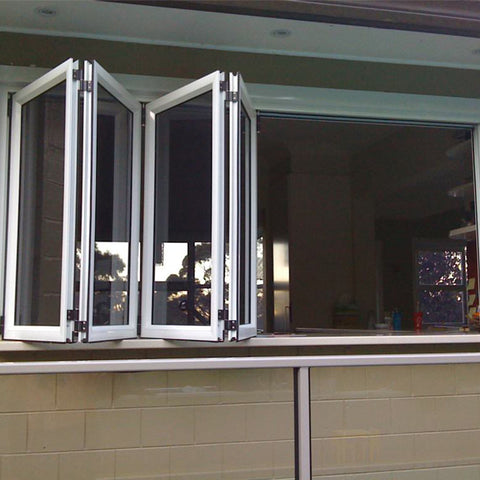 Gold supplier aluminium windows doors in china double glaze bifold window accordion windows