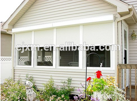 Good Quality roller shutter Single Swing Aluminum Profile Windows And Door on China WDMA