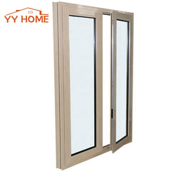 Good Soundproof aluminum double pane casement window used commercial glass windows