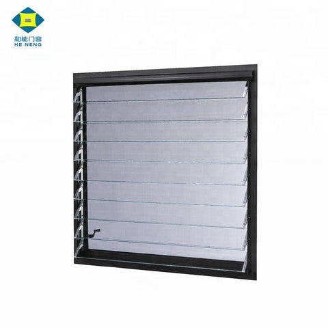Good Ventilation Aluminum Glass Louver Shutter Windows on China WDMA