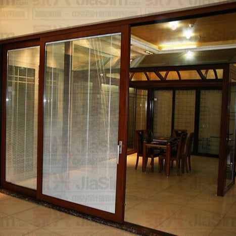 Good price sliding patio doors with built in blinds uk UB6334 on China WDMA