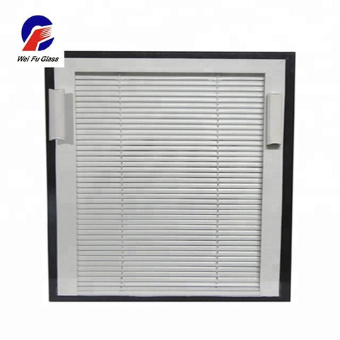 Good quality office curtains and blinds with the double glazing glass windows blinds between glass on China WDMA