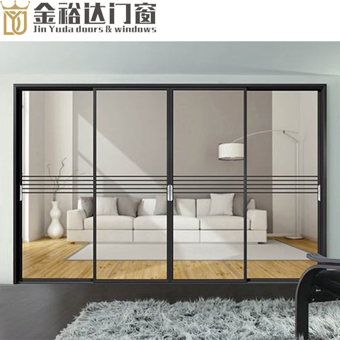 Guangdong foshan factory supply narrow narrow side sliding door frame kitchen aluminum frame glass door on China WDMA