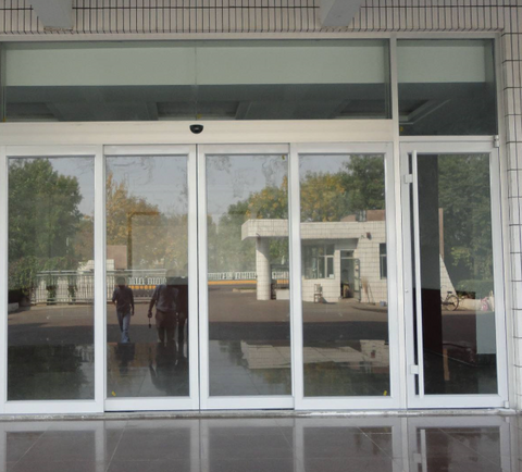 Guangzhou Caesar ES200 price list apartment Cafe dual automatic glass sliding doors for UK market on China WDMA
