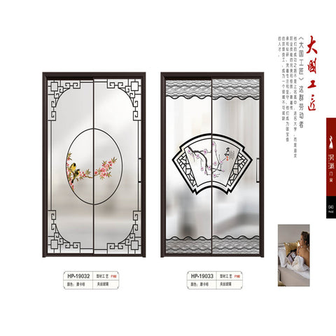 Guangzhou manufacturer price of glass bifold plastic roller 6082 aluminium sliding door size 3900 x2150mm on China WDMA