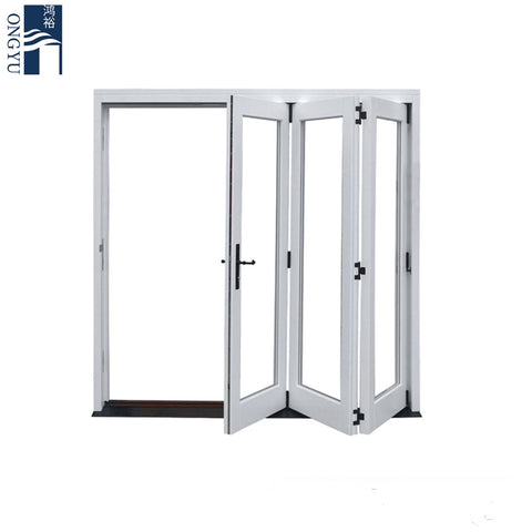 Soundproof Bi-fold Exterior Folding Storm Window Bi-folding Frameless Bifold Patio Mosquito French Internal Bi Fold Screen Door on China WDMA