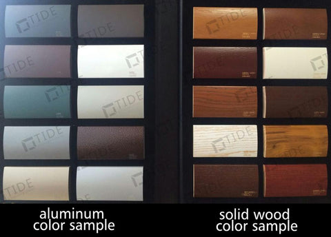 Sliding wood door aluminum wood sliding glass doors with glass internal blinds on China WDMA
