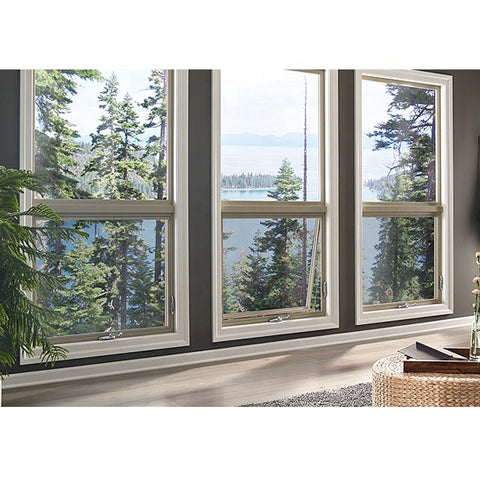 Residential White Aluminium Windows Double Glass Price Retractable Window Awning Aluminium Window Systems
