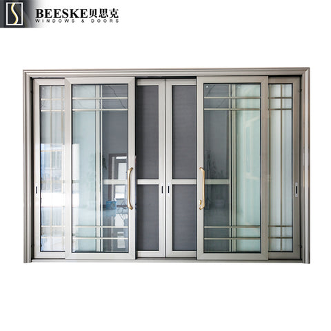 Cheap Price Large Size Tempered Glass Interior Three Track Aluminum Sliding Doors For Balcony on China WDMA
