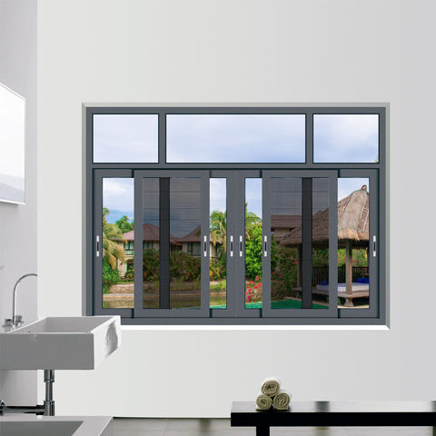 HS-JY8013 china foshan factory wholesale double glazed glass with mosquito net designs aluminium sliding windows and doors on China WDMA