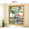 180 degree mosquito net 136Z exterior french double glass aluminum full framed sliding door with german hardware on China WDMA